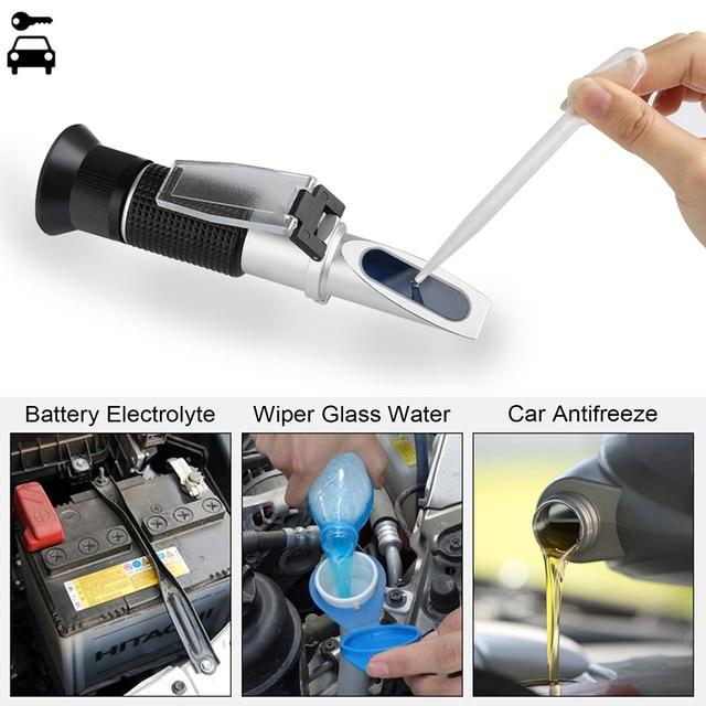 Universal Hand Held Automotive Engine Antifreez Refractometer Freezing Point Urea Adblue Battery Fluid Glass Water Tester Meter