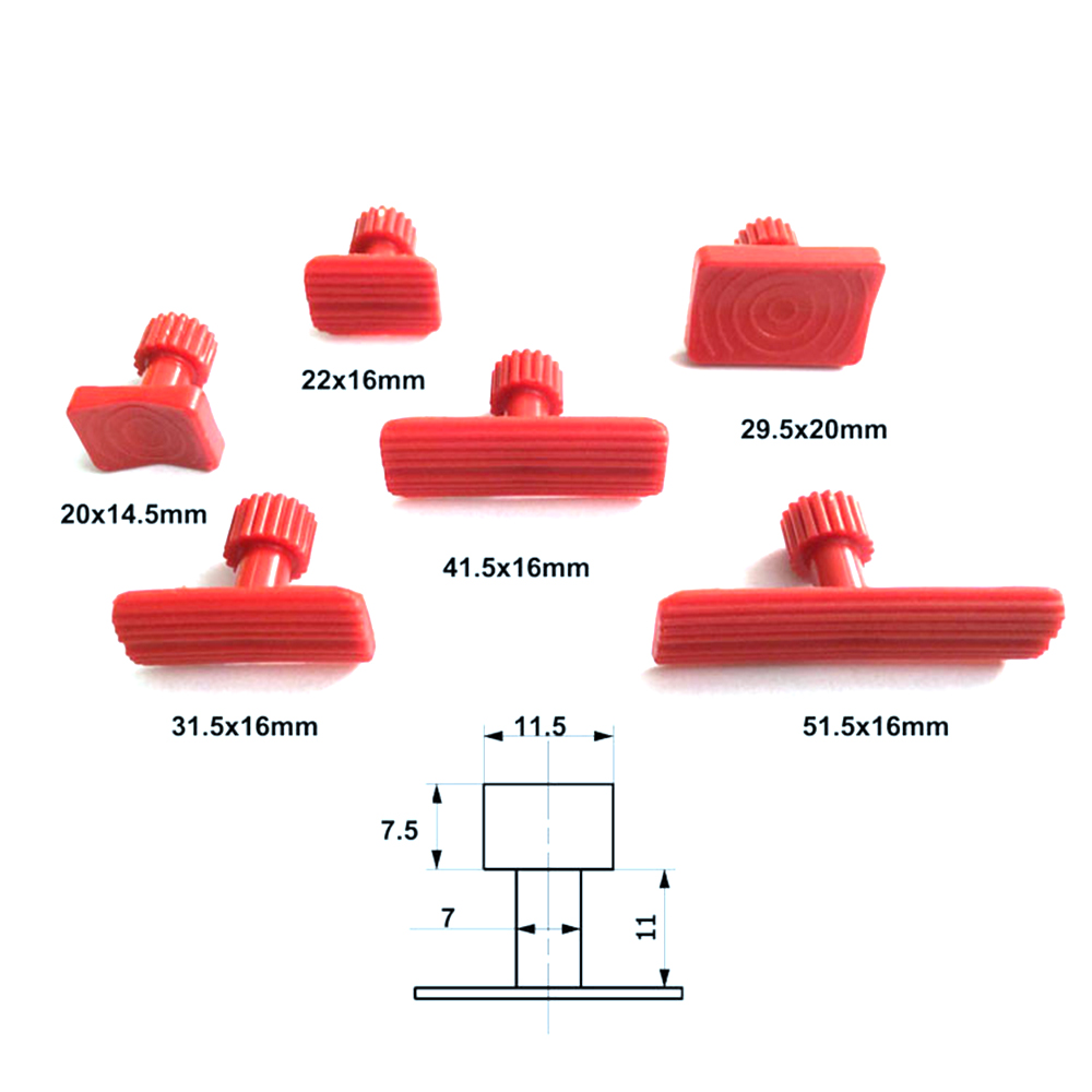 PDR Puller Tabs 33 pcs Glue Car Body Dents Remover Tool Auto Paintless Dent Repair Tools Car Repair Kit Dent Puller