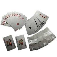 24K Golden Playing Cards Deck Silver Foil Poker Set Magic Card Durable Waterproof Game Cards Euro US Dollar Design Poler Cards 1