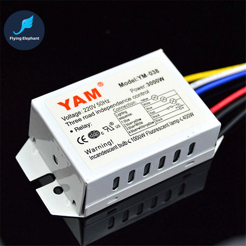 2000W 3000W 220V For Crystal Lamp Ceiling Light Two Road Independence Control 2 Ways Or 3 Ways Digital Piecewise Switch