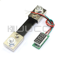 Medidor de ampère dc 0 100100a dc 0 100100a digital testador azul led amperímetro painel dc 12 v 24 v + shunt resistive