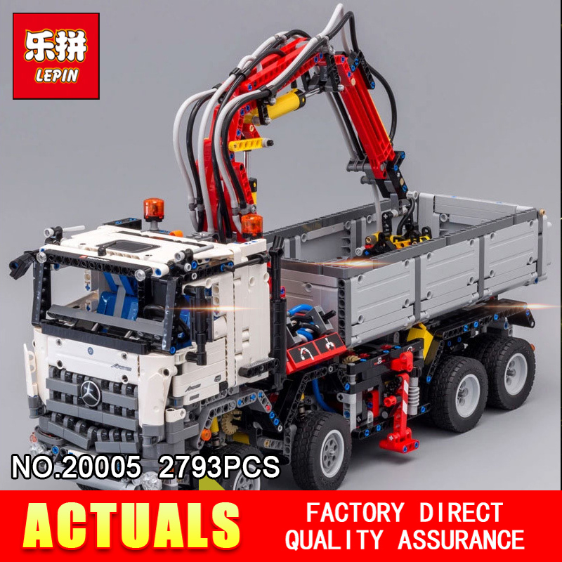 LEPIN 20005 2793Pcs Technic series Arocs truck Model Building blocks Bricks Classic Compatible 42043 for Boy's Christmas Gifts lepin technic series building bricks 20005 2793pcs arocs truck model building kits blocks compatible 42043 boys toys gift