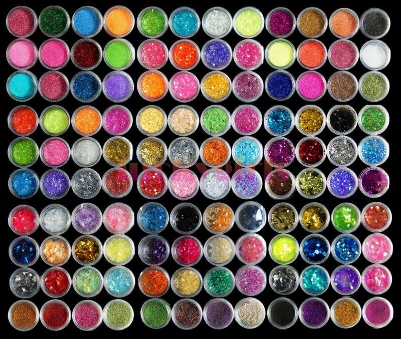 Nagel/set 3d/12 Dekoration Glitter Farben Perle Edelsteine 120 18 Uv Diy Acryl Kunst Schönheit & Gesundheit Nails Art & Werkzeuge
