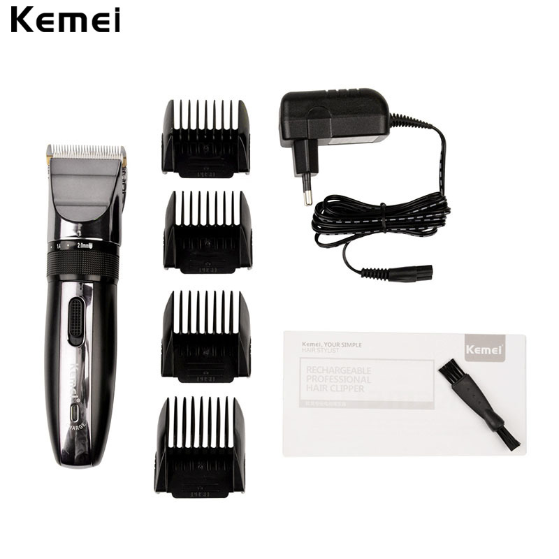 Kemei-Electric-Hair-Clipper-Rechargeable-Hair-Trimmer-Shaver-Razor-Cordless-08-20mm-Adjustable-Low-Noise-For-Adult-Child-4747-1