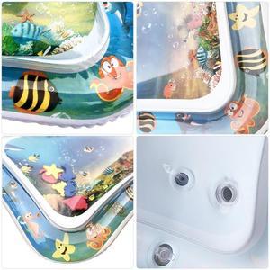 Image 5 - תינוק ילדים מים לשחק מחצלת מתנפח תינוקות בטן זמן Playmat צעצועים לילדים קיץ שחייה חוף בריכת משחק מגניב שטיח צעצוע