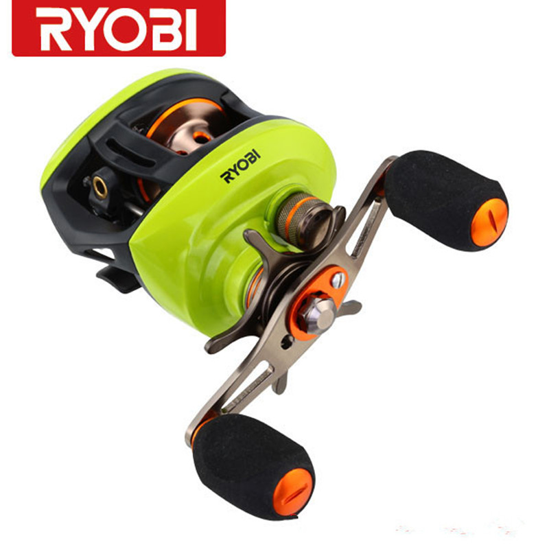Ryobi AQUILA Baitcasting Fishing Reel 8+1 BB 6.3:1Gear Ratio R/L Hand Bait Casting Reels Round Coil Molinete Pesca Carretilha free shipping by ems fishing reels baitcasting reel daiwa megaforce ths gear ratio 7 3 1 six ball bearings right