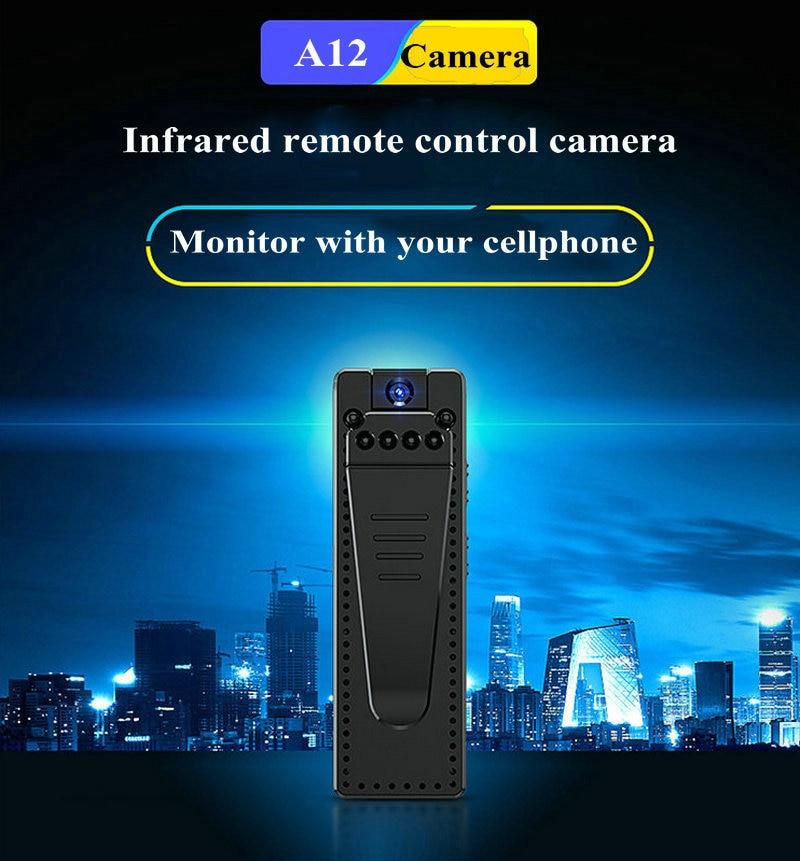 A12 1080P Mini Camera Voice Audio Recorder Night Vision APP Remote Camcorder DVR Wide Angle 170 Degree