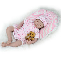 KAYDORA 22 Inches silicone reborn dolls eyes closed toys for girls stuffed dolls npk collection reborn 55 Christmas Gifts