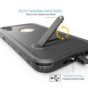 Image 3 - 360 pełna ochrona prawdziwa wodoodporna obudowa dla iPhone 11 XS XR XS pro max skrzynki pokrywa pancerz dla iPhone x xs max Funda sprawa odporna na wstrząsy