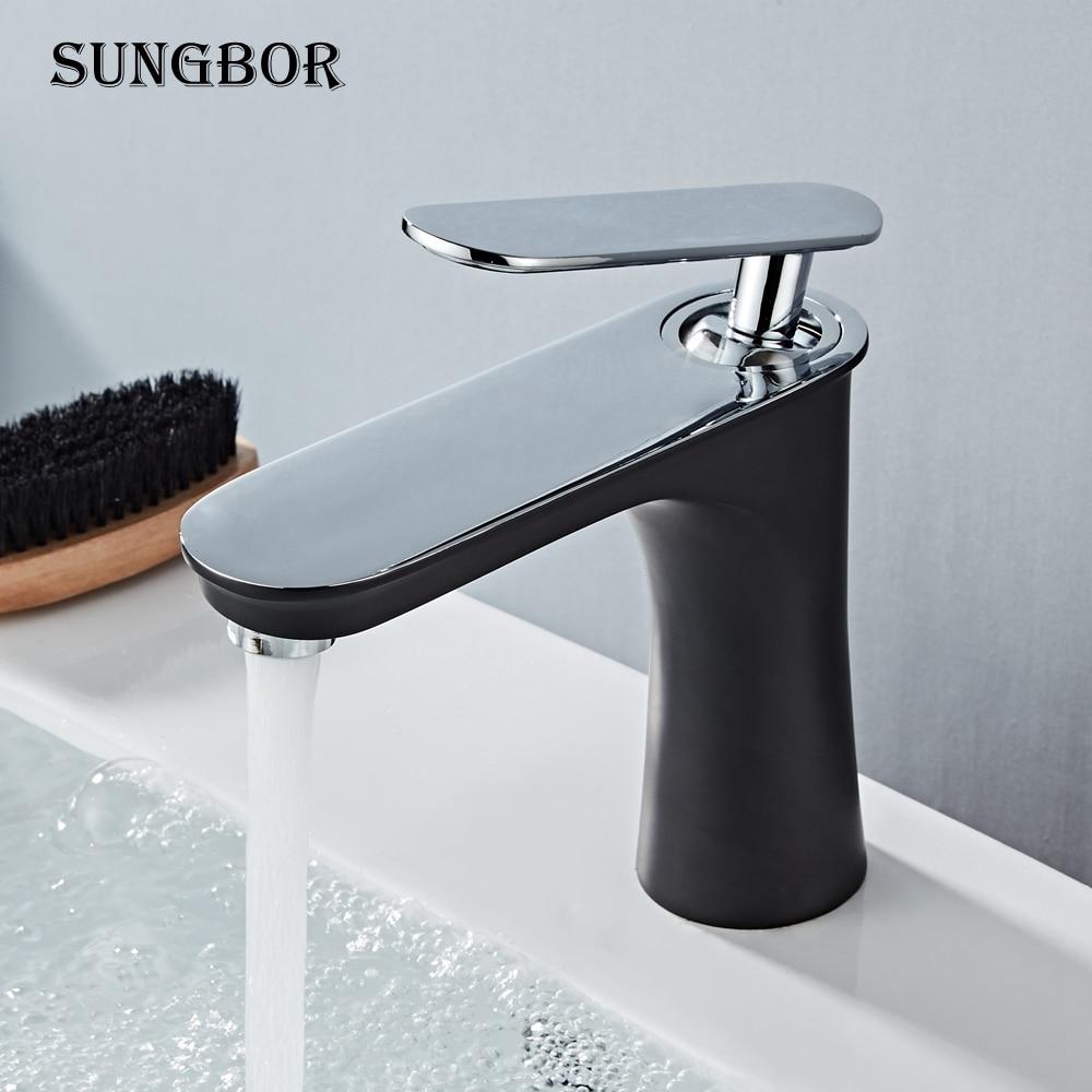 Robinet de lavabo en laiton mélangeur salle de bains évier robinet robinet de bain monté sur le pont robinet grue évier d'eau robinet Torneira do Banheiro AL-6280H