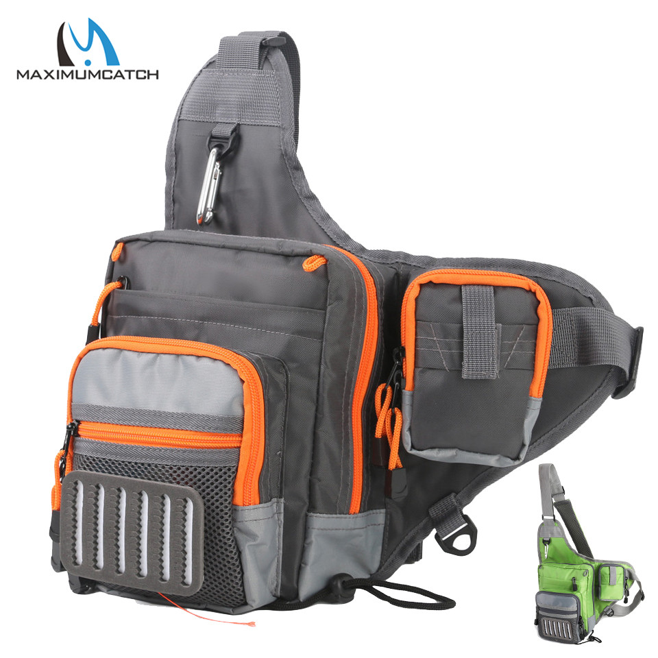 Maximumcatch V Cross Fly Fishing Sling Bag Impermeable Multifunción de pesca Bolsa de cintura Paquete de herramientas