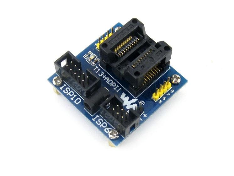 ФОТО Modules T13+ ADPII ATtiny13 ATtiny12 ATtiny15 ATtiny25 ATtiny45 SOIC8 (208 mil) AVR Enplas Programming Adapter Test Socket