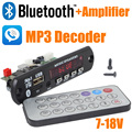 Nova marca 5 pçs/lote 12 V Car Handsfree Bluetooth MP3 decode board com o módulo Bluetooth e construir em 2*3 amplificador board-10000657