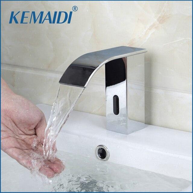 KEMAIDI Automatische Sensor Wasserfall Bad Wasserhahn Waschbecken ...
