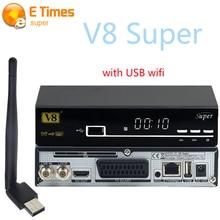 El mejor precio de Super V8 DVB-S2 TV Vía Satélite Receptor Soporte Youtube Youporn Cccam Newcamd Biss Clave PowerVu Set Top Box + USB WIFI