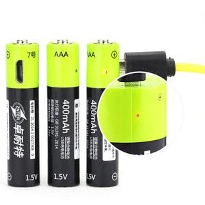 Image 3 - ZNTER AAA Bateria Recarregável 1.5V 400mAh Bateria de Polímero de Lítio Bateria Recarregável USB Universal Com Cabo Micro USB