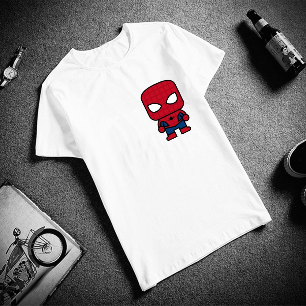Fashion Short Sleeve T Shirt Women Avengers Superhero Simple Print 100% Cotton Top Tees Casual O Neck T-Shirt Unisex Streetwear
