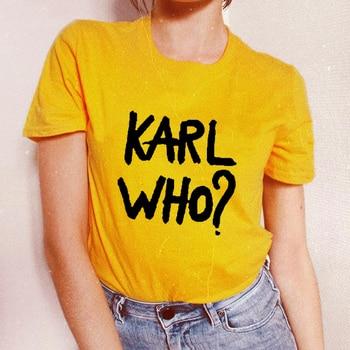 Señoras Manga Camiseta Amarillo Mujer Tops Divertida Hombres Corta Blanco Moda Hombre Karl Mujeres Who Camisetas Tumblr mn0N8OPwvy
