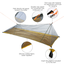 Lixada 1-2 Person Outdoor Mosquito Net Hammock Outdoor Camping Tent Ultralight Mesh Tent Hanging Sleeping Bed Swing Net ultralight mosquito net hunting hammock camping mosquito net travel mosquito net leisure hanging bed for 2 person outdoor