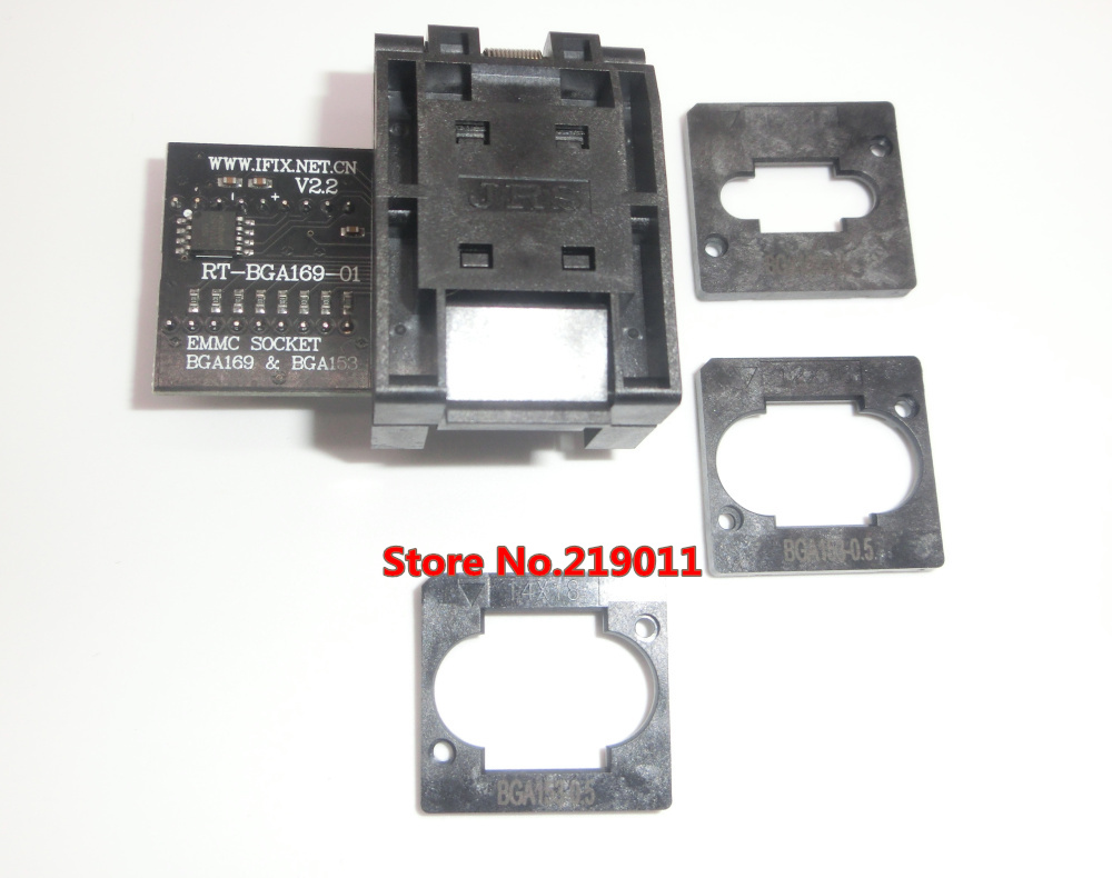 RT BGA169 01 V2.0 EMMC Seat EMCP153 EMCP169 Socket BGA169 BGA153  EMMC ADAPTER 11.5*13mm add more 3 pcs Matrix FOR RT809H-in Integrated Circuits from Electronic Components & Supplies