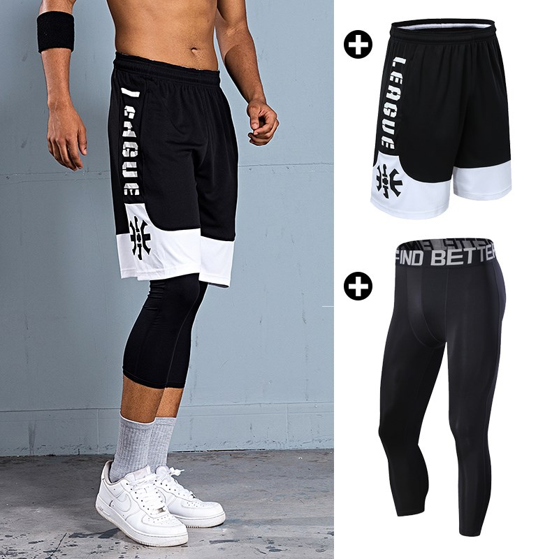 Men Loose Running Workout Shorts Pants Breathable Sport Athletic Train