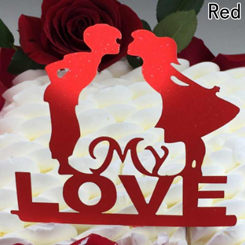 Wedding Cake Topper Bride Groom Mr Mrs paper Cake Toppers Wedding Decoration Mariage Party Supplies Adult Favors