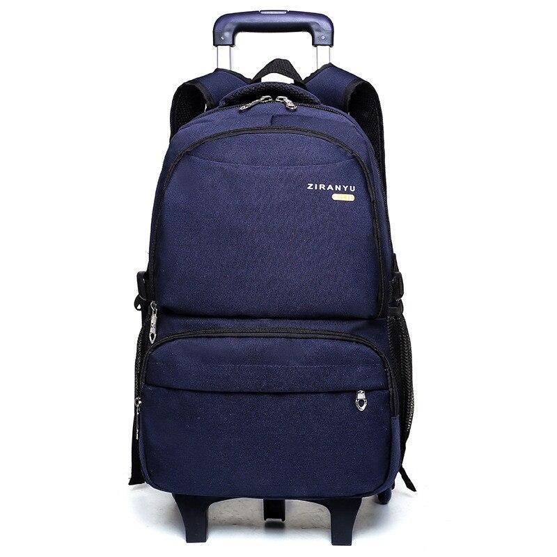 2e0e9b501f30 Тележка рюкзак Съемный школьные сумки для подростков мальчиков девочек  большой Ёмкость Дети Студенты колесных рюкзак школьные