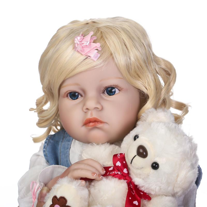 NPK 70cm Silicone Reborn Baby Dolls Toys Lifelike 28 inch Big Size Princess Toddler Girl Reborn Dolls Toys bebe bonecas  70cm silicone reborn baby doll toys lifelike 28 inch big size princess toddler girl reborn dolls toys clothing shop model doll
