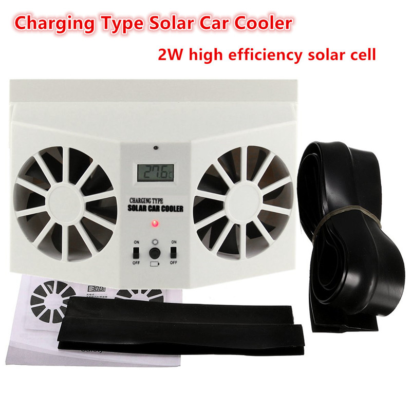 1Pcs Solar Power Car Auto Front/Rear Window Air Vent Cool Fan Ventilation System Radiator Can Use Battery Car Air Purifier 100w 12v monocrystalline solar panel for 12v battery rv boat car home solar power