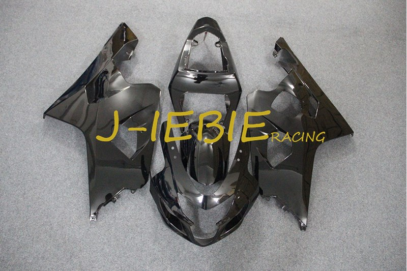 Black Injection Fairing Body Work Frame Kit for SUZUKI GSXR 600/750 GSXR600 GSXR750 2004 2005