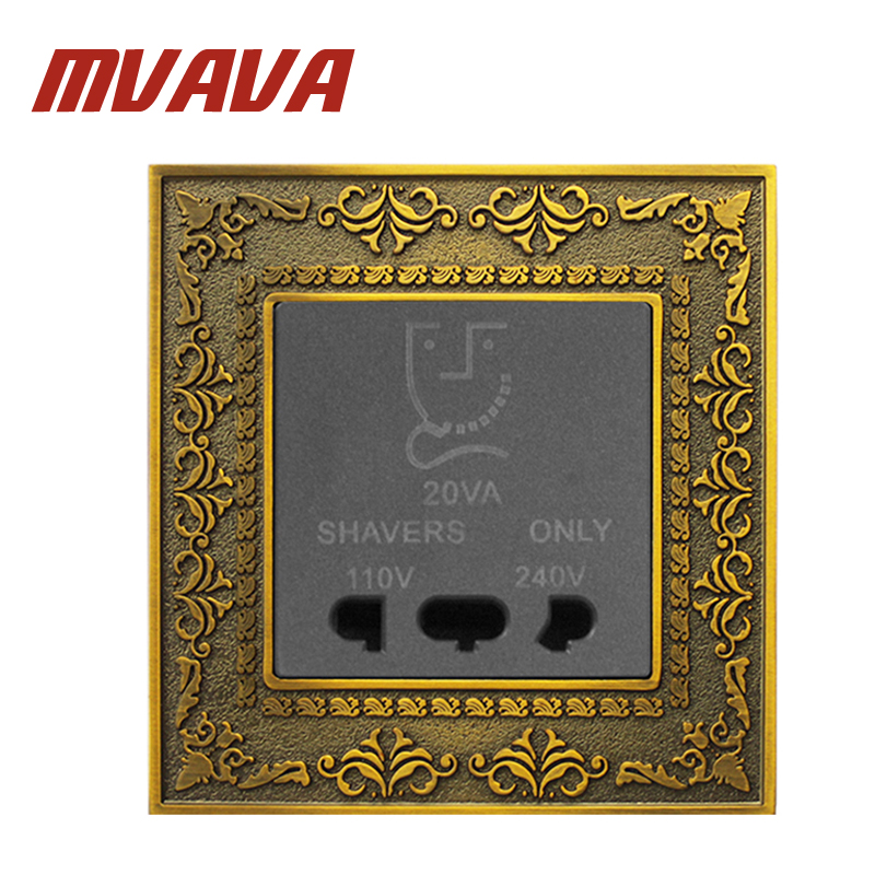 MVAVA Free Shipping Wall Shaver Socket Beard Shaving Charge Plug Outlet Dual Voltage 110V 240V New Design Lace Embossed Panel the failure of economic nationalism in slovenia s transition