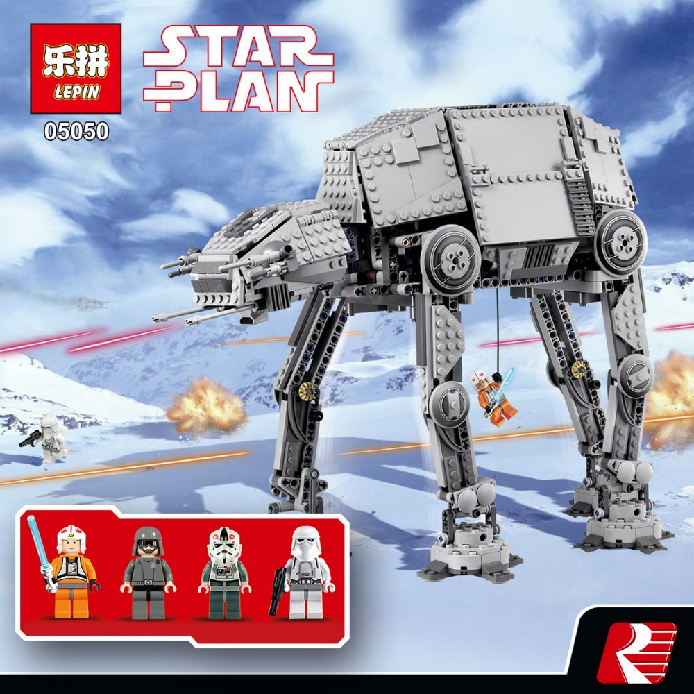 NEW 1167pcs Lepin 05050 Star Series AT- the AT Robot Electric Remote Control Building Blocks Toys Compatible with 10178 for wars mylb new 499pcs new star wars at dp building blocks toys gift minis rebels animated tv series compatible drop shipping