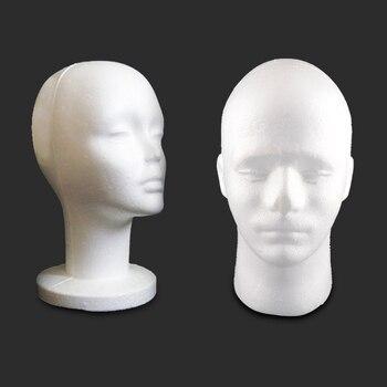1Pc 26.3*53cm Head Model Styrofoam Foam Mannequin Hat Wig Glasses Display Stand Rack for Cap Headphones Hair Accessories mannequin