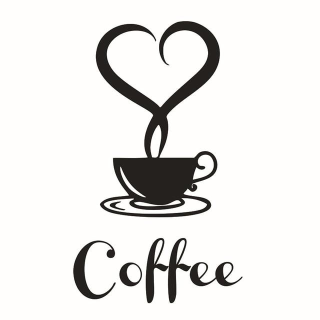 Baru 2012 5 cm removable diy wall art paper untuk dapur cafe decor coffee cup