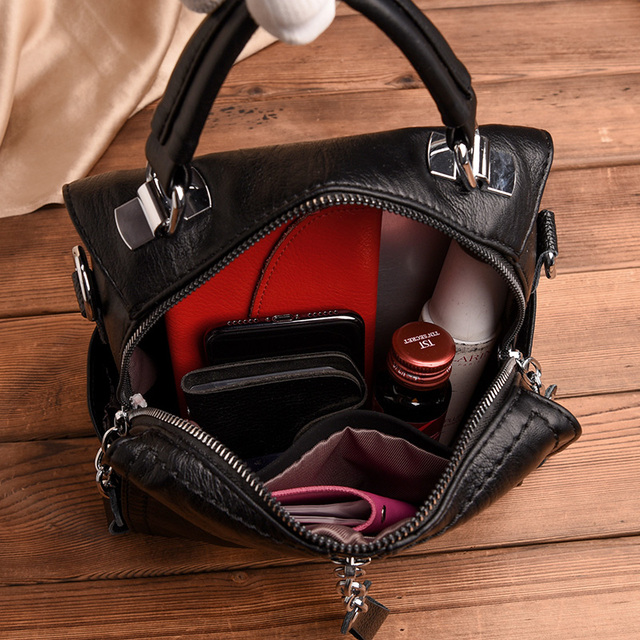 Glorria Luxury Cow Leather Handbags Women Bags Designer Fashion Shoulder Crossbody Bag for Women Multifunction Bag Big Tote Sac 1