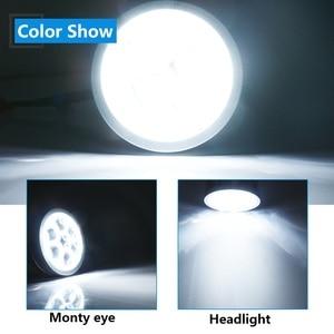 Image 5 - YM E 밝은 2 개/대 3 인치 LED 헤드 라이트 높은 빔 렌즈 화이트 21W 악마 악마 눈 화이트 블루 레드 자동차 Led 조명 12V H1 H4 H7