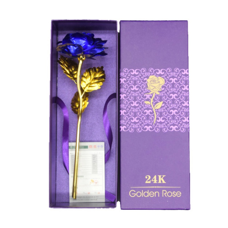 Aliexpress Com Buy Wr Romantic Rose 24k Gold Dipped: 24k Gold Plated Rose With Love Holder Box Gift Valentine's