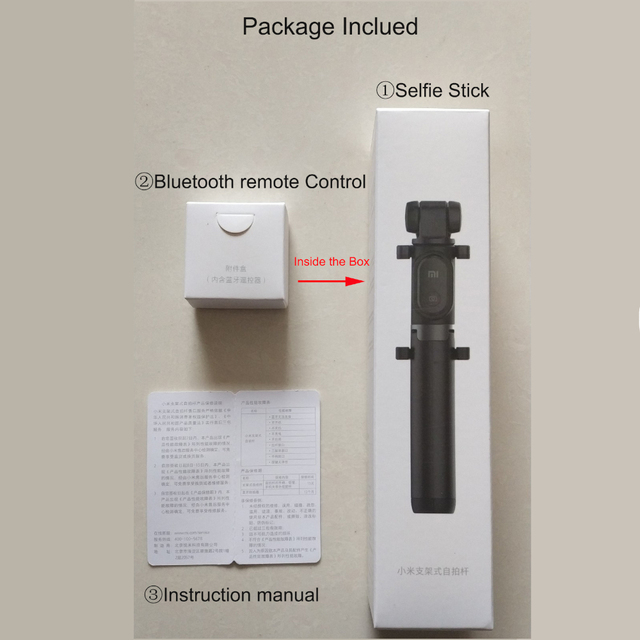Original xiaomi Selfie Stick for Phone Bluetooth Mini Tripod Selfiestick with Wireless Remote Shutter For iPhone Samsung Android 5