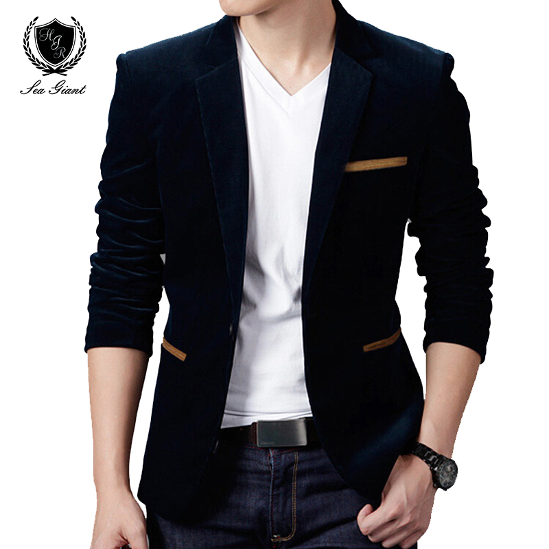Male Blazers Jacket Coat Suit Slim-Fit Casual Plus-Size Mens British's-Style Fashion-Brand