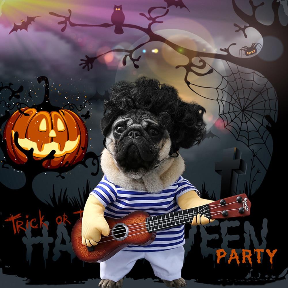 Kết quả hình ảnh cho Funny Pet Guitar Player Cosplay Dog Cat Costume Guitarist