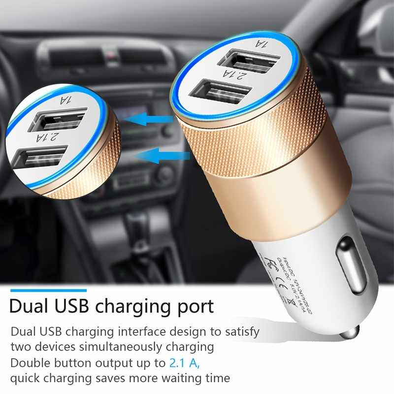 المزدوج USB SUV سيارة شاحن سامسونج غالاكسي S10 زائد S10e S9 S8 J6 J4 J7 J3 J5 J2 A7 A3 A9 a8 A6 A4 A5 محول شواحن شاحن