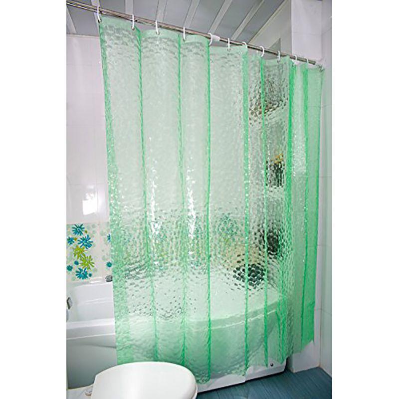 New Bathroom Waterproof Fabric PEVA Curtains 3D Water Cube Design ...