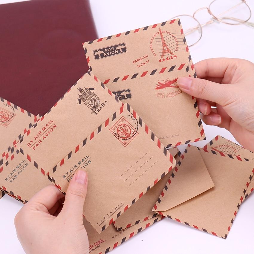 10 Pcs Mini Vintage Paris Paper Envelope Fashion Cute Kraft Paper Envelopes Kawaii Korean Stationery For Cards At Any Cost