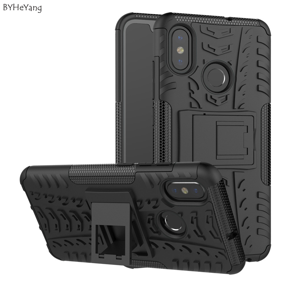 For xiaomi mi 9T Armor Case Xiaomi 9t Slim Bumper with Stand Phone 8 mi8 Coque MI8 Silicon Back Cover