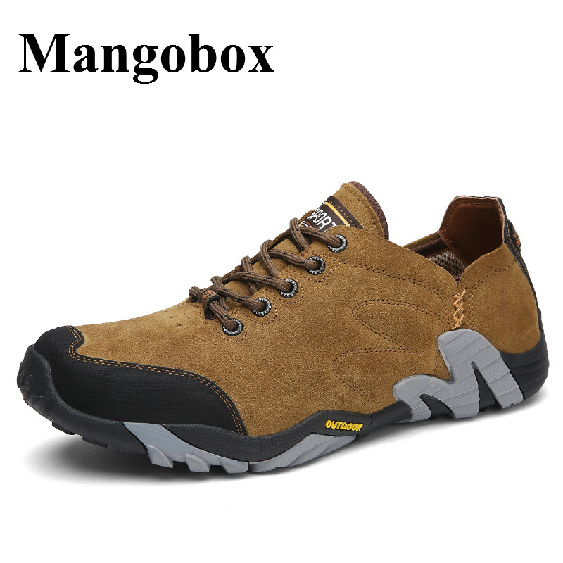Hiking Trainers For Men Spring Summer Outdoor Walking Shoes Mens Brown Blue Mens Mountain Boots Anti-Slip Hiking Sneakers Men mans shoes mountain big size brand shoe men sport anti slippery hiking shoes mens good quality outdoor hiking trainers