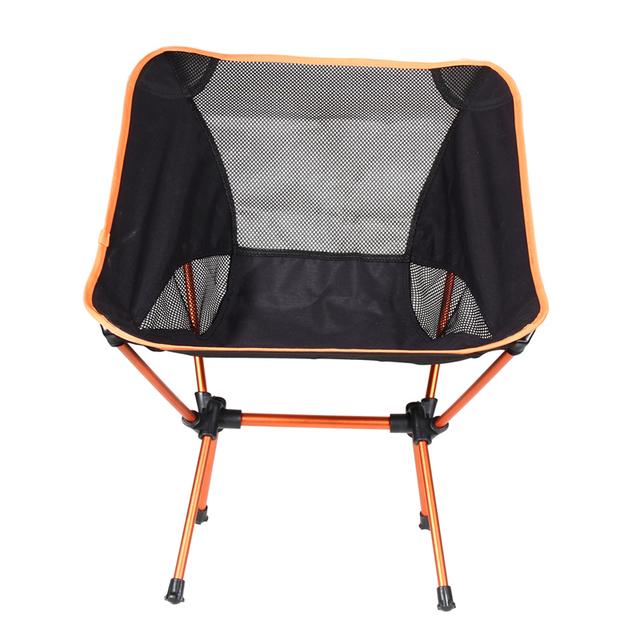 Peso Leve portátil Dobrável Tamborete de Acampamento Quatro Pés Assento Da Cadeira Para Pesca Festival Picnic CHURRASCO de Praia Com Saco de Laranja
