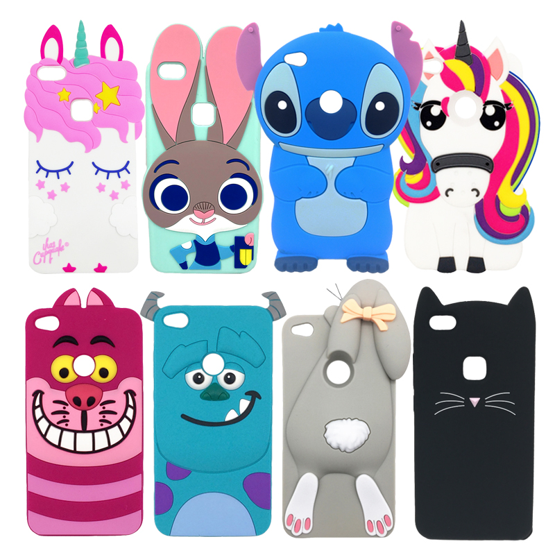 For Fundas Huawei P8 Lite 2017 P9 Lite 2017 3D Silicone Cute Cover Soft Phone Case For Huawei Honor 8 Lite Rubber Back Para 5.2
