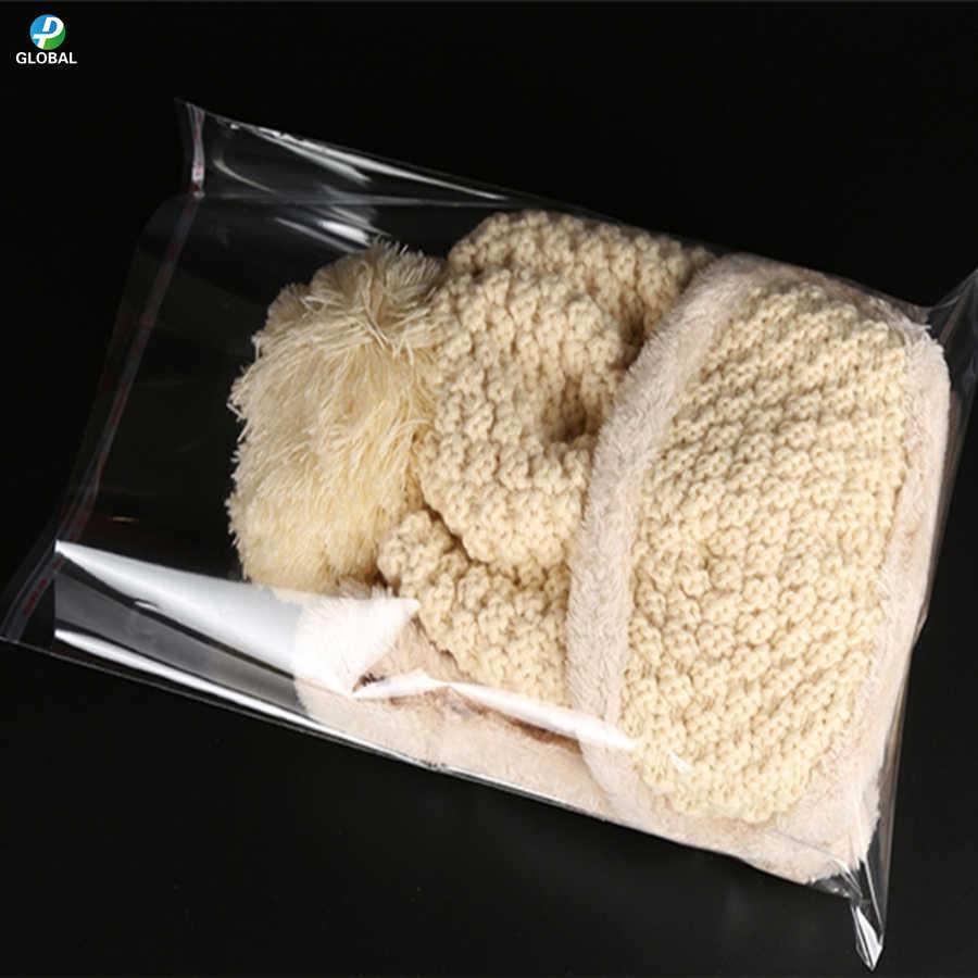 D & P 100ps שקוף ניתן לאטימה חוזרת עצמי דבק חותם מתנת פלסטיק פאוץ הקמעונאי ברור תכשיטי/מלאכת OPP פולי אריזת אחסון תיק