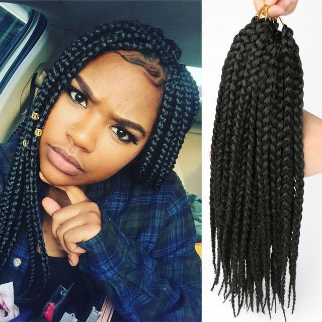Box Braids Crochet Braids Synthetic Hair Jamaican Colored