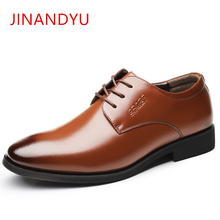 Brand Genuine Leather Men Dress Shoes Men Formal Business Office Shoes Lace-Up Male Wedding Shoes Fashion Comfortable Point Toe christia bella brand fashion men oxford shoes genuine leather business office men brogues gold wedding men dress shoes male flat